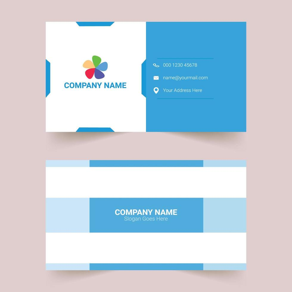 Creative Corporate Modern Business Card Template vector