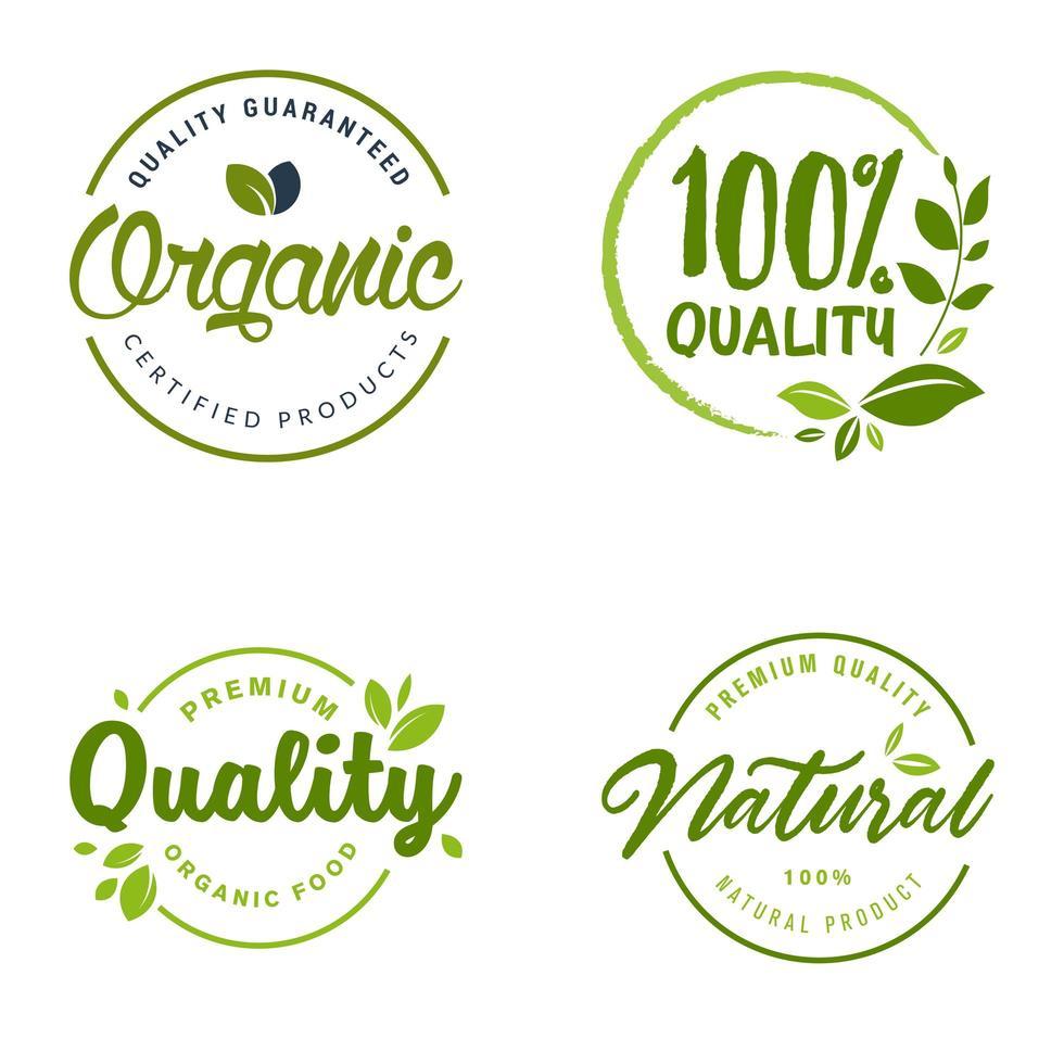 Set of Eco Logo Symbols vector
