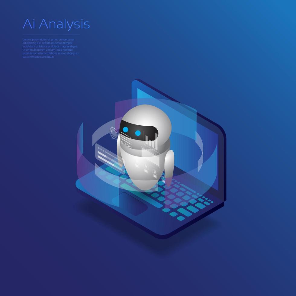 AI Analysis Robot  vector