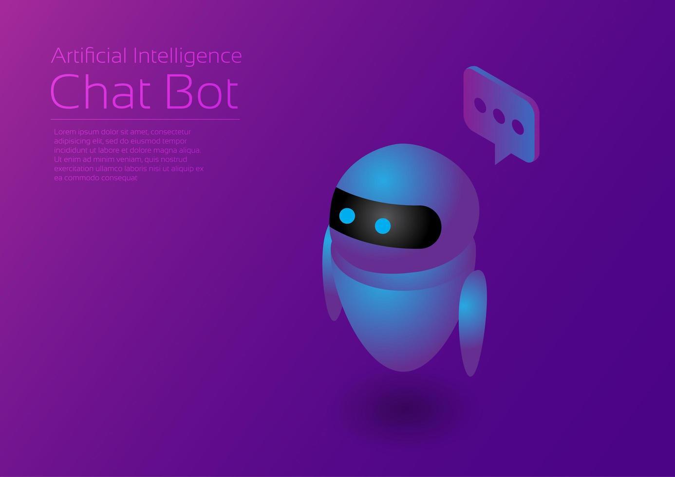 Ai Assistant Robot vector