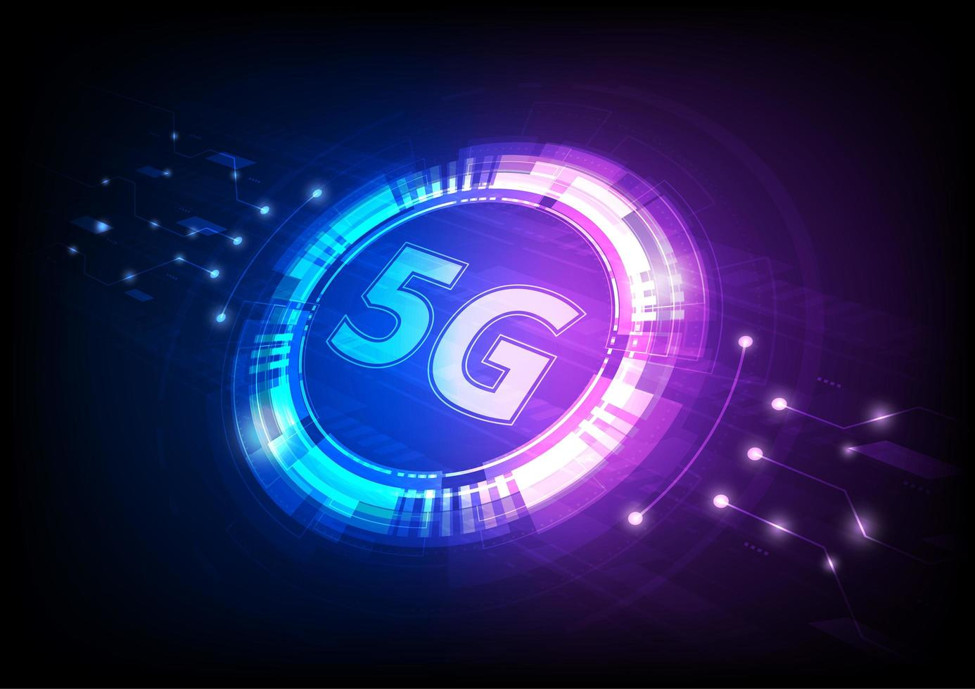 Blue and Pink 5G Digital Technology at Angle - Download Free Vectors,  Clipart Graphics & Vector Art