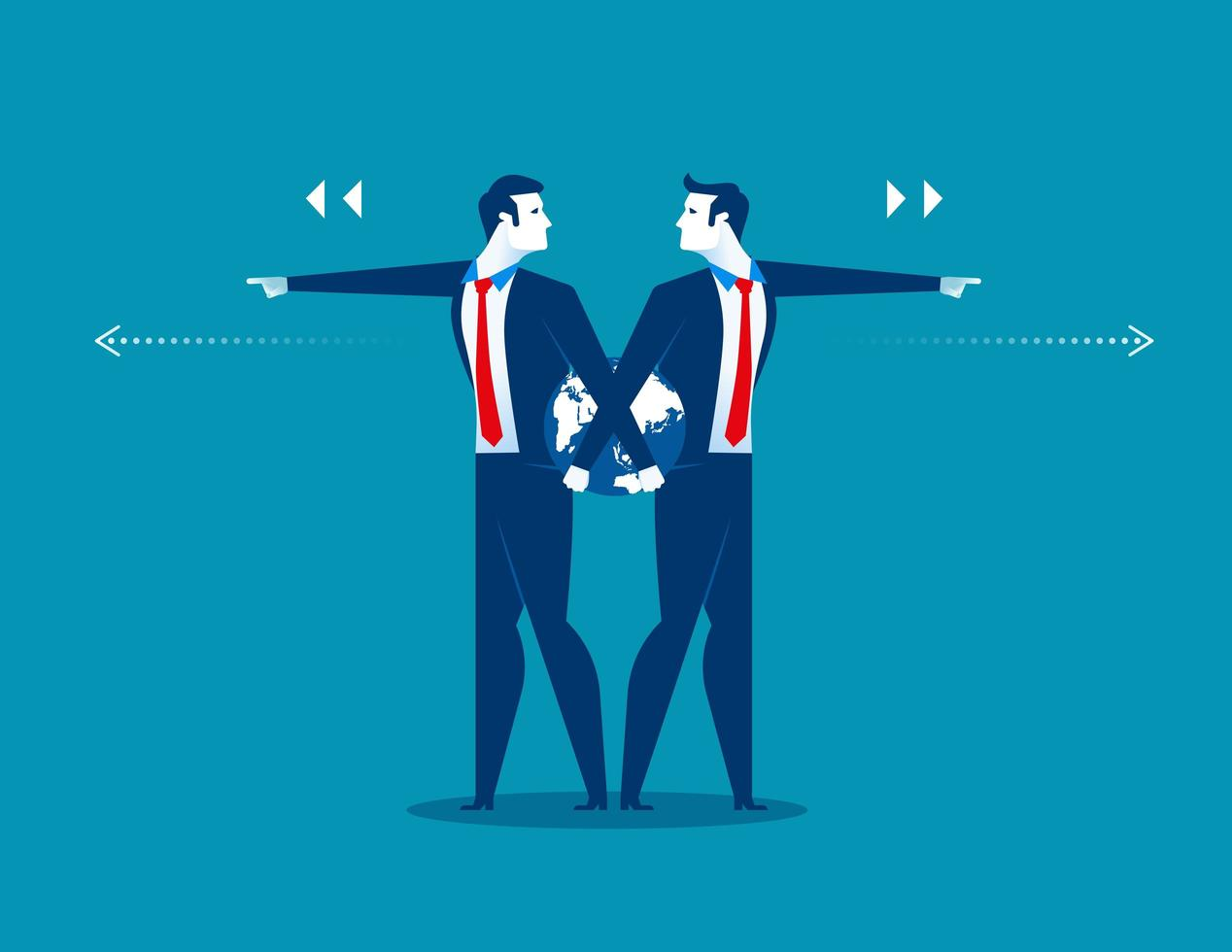 Businessmen Pointing in Different Directions vector