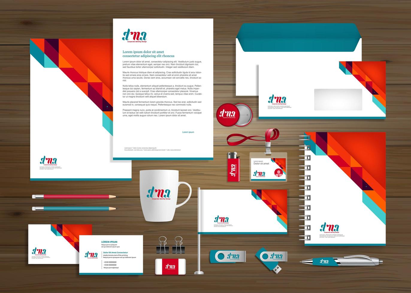 Business Presentation Template vector