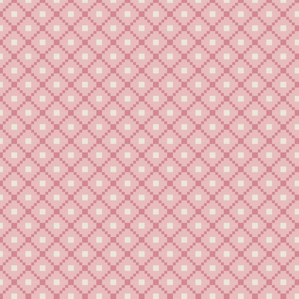 patrón de isla justa rosa tradicional vector