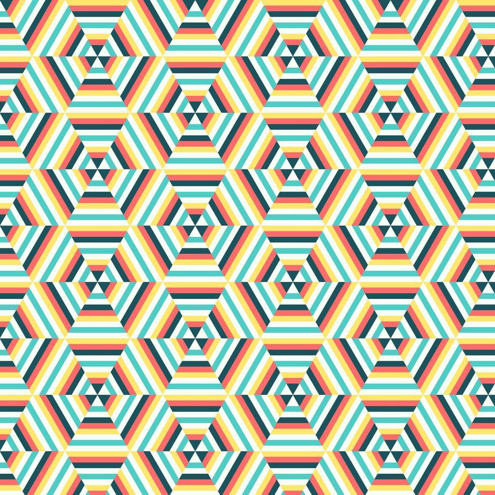 Geometric Hexagon Pattern background vector