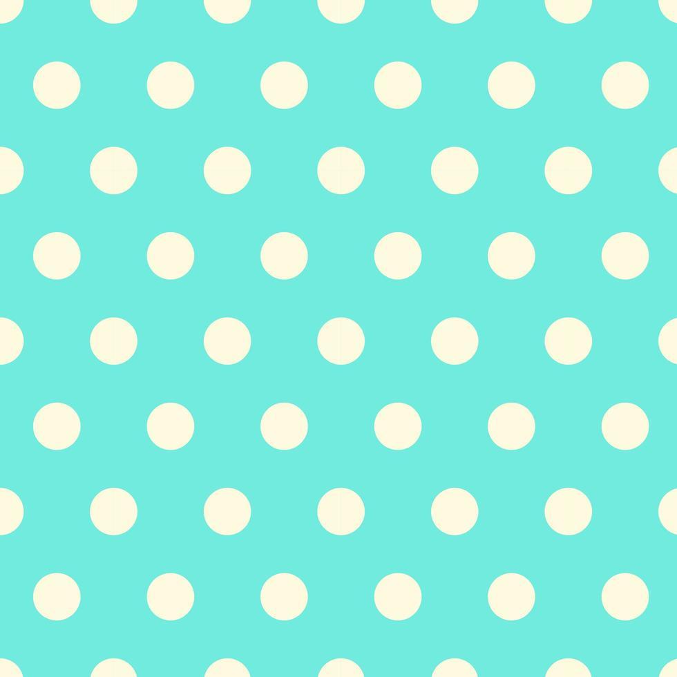 Seamless Aqua Polka Dot Pattern vector