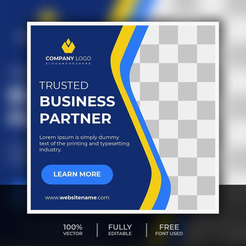 Business Social Media Post Template Design vector