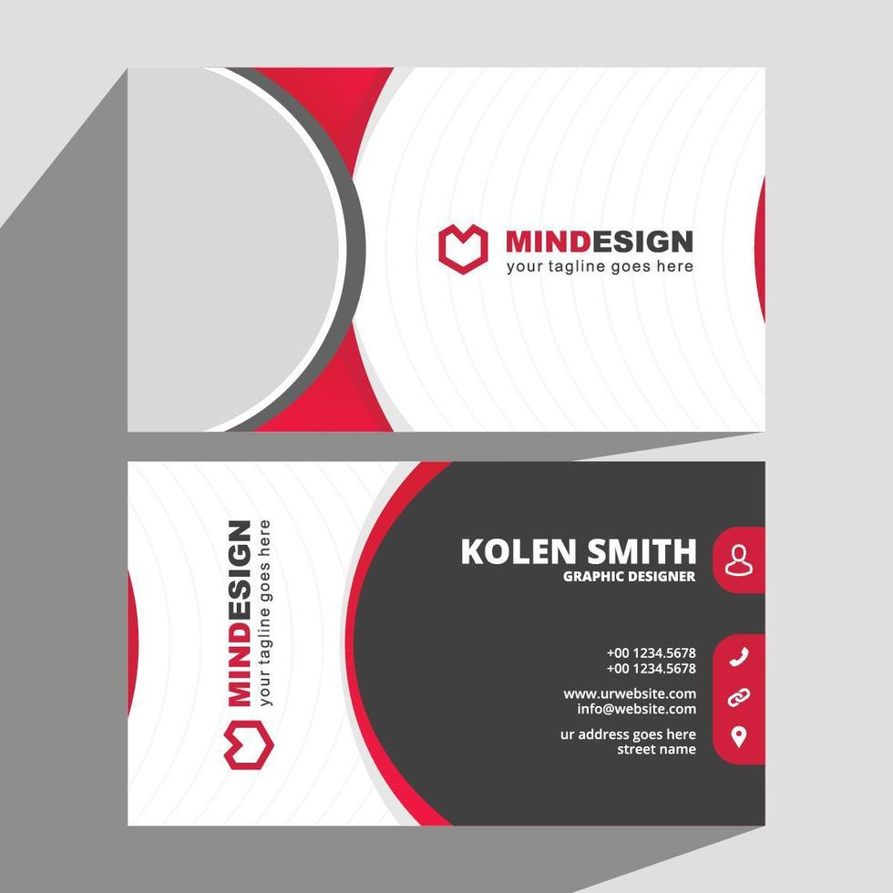 Creative Red Black Business Card Template vector