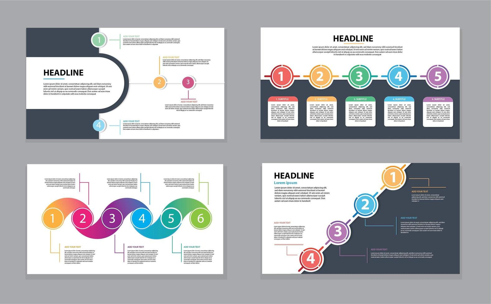 Infographic Timeline Template with Colorful Circles vector