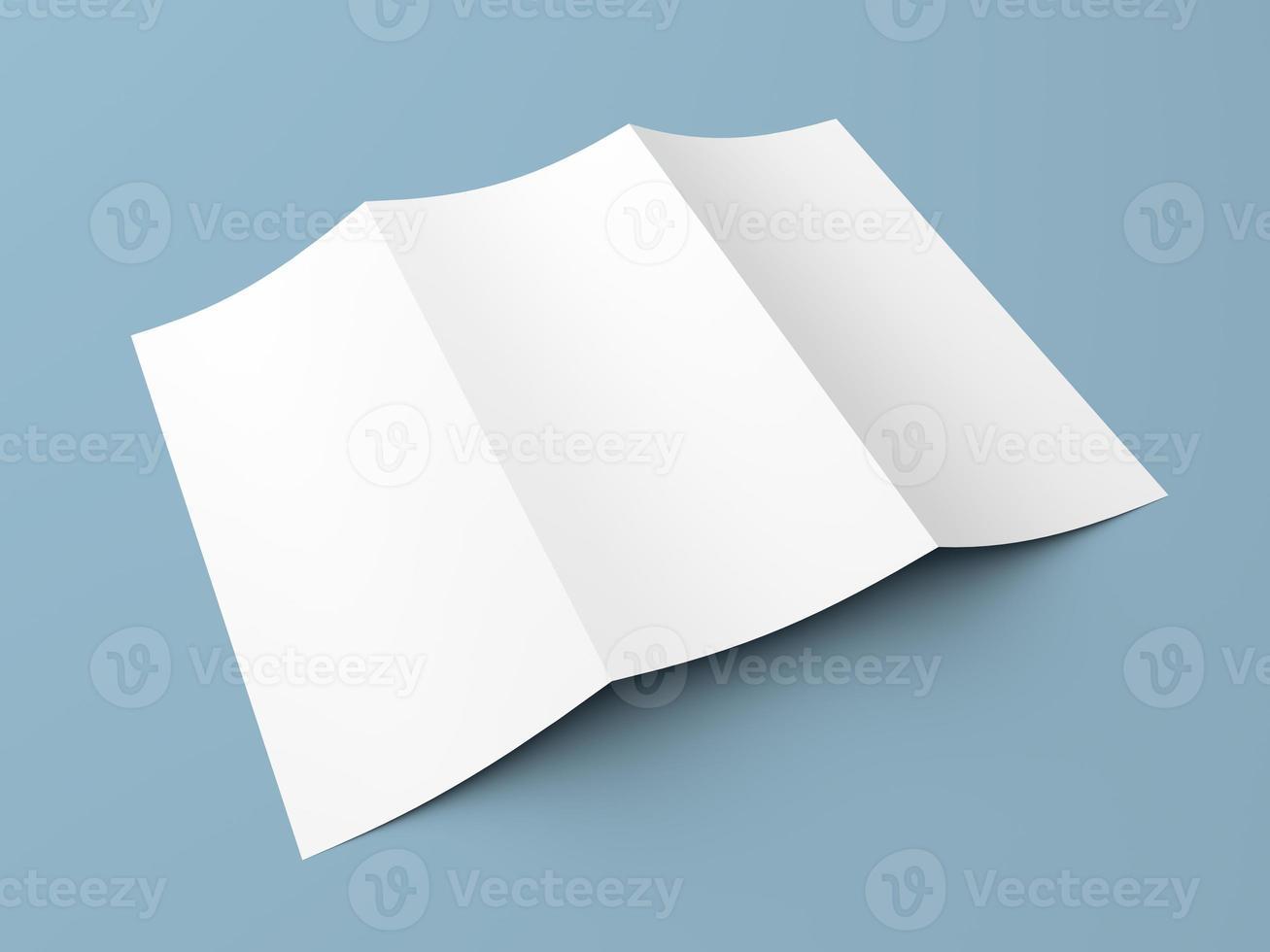 folder blanco gevouwen wit papier brochure foto
