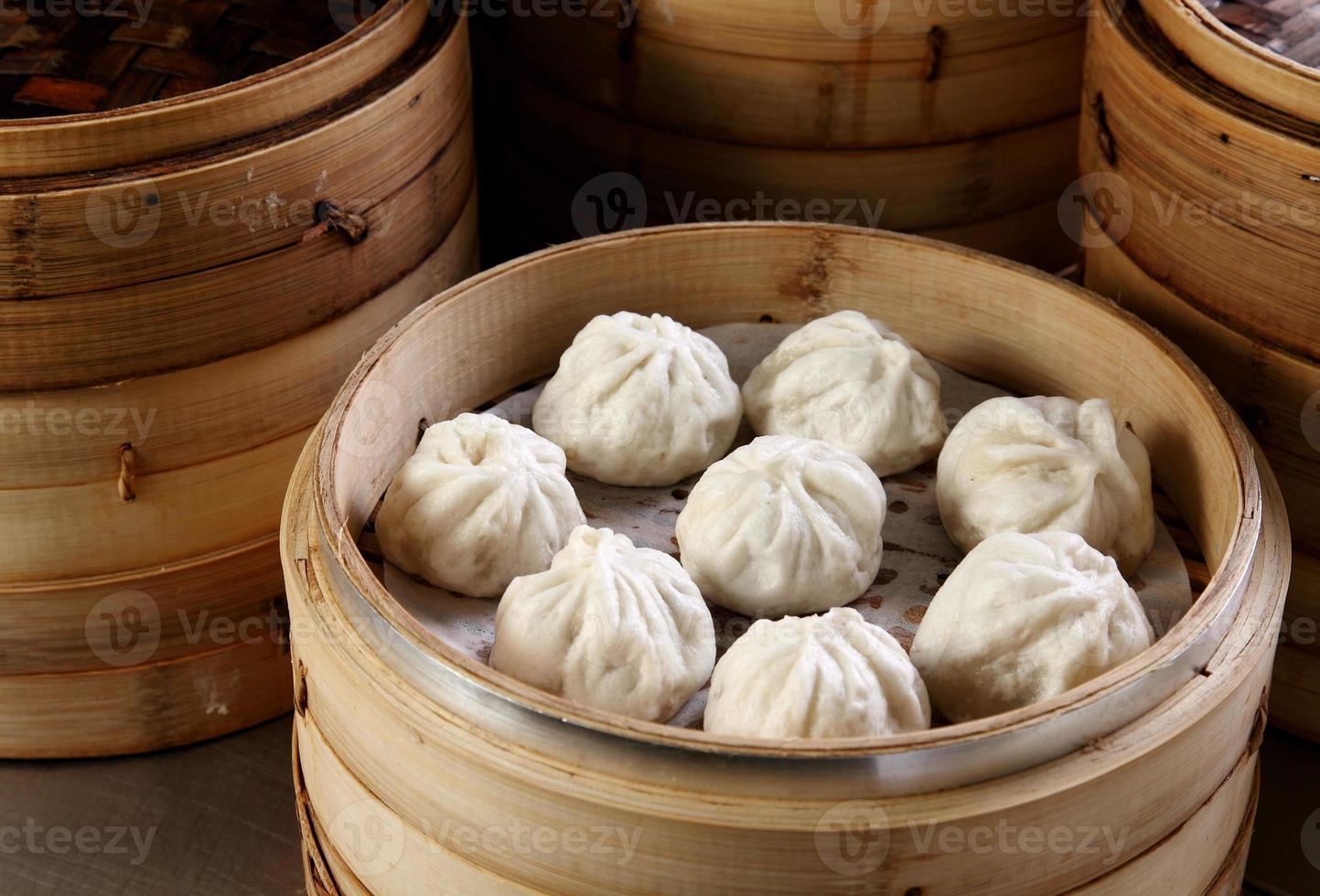 xiaolongbao, bola de masa hervida al vapor foto