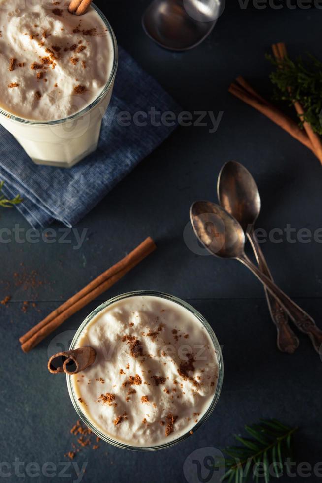 Homemade Eggnog Ice Cream Milkshake photo