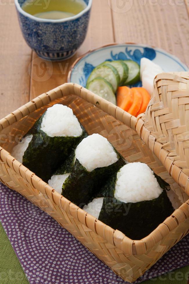 japonés, cocina, onigiri foto