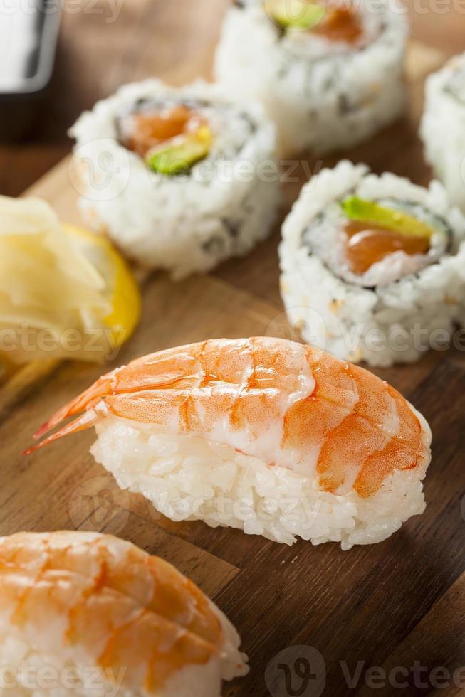 Healthy Japanese Nigiri Sushi photo
