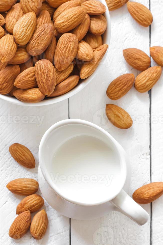 Almond milk photo
