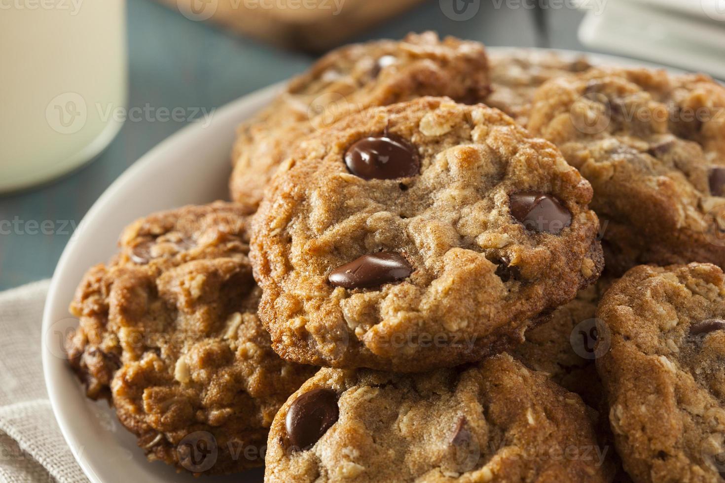 galletas de chispas de chocolate caseras foto