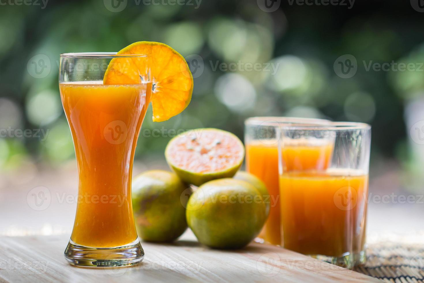 Glass of fresh orange juice photo