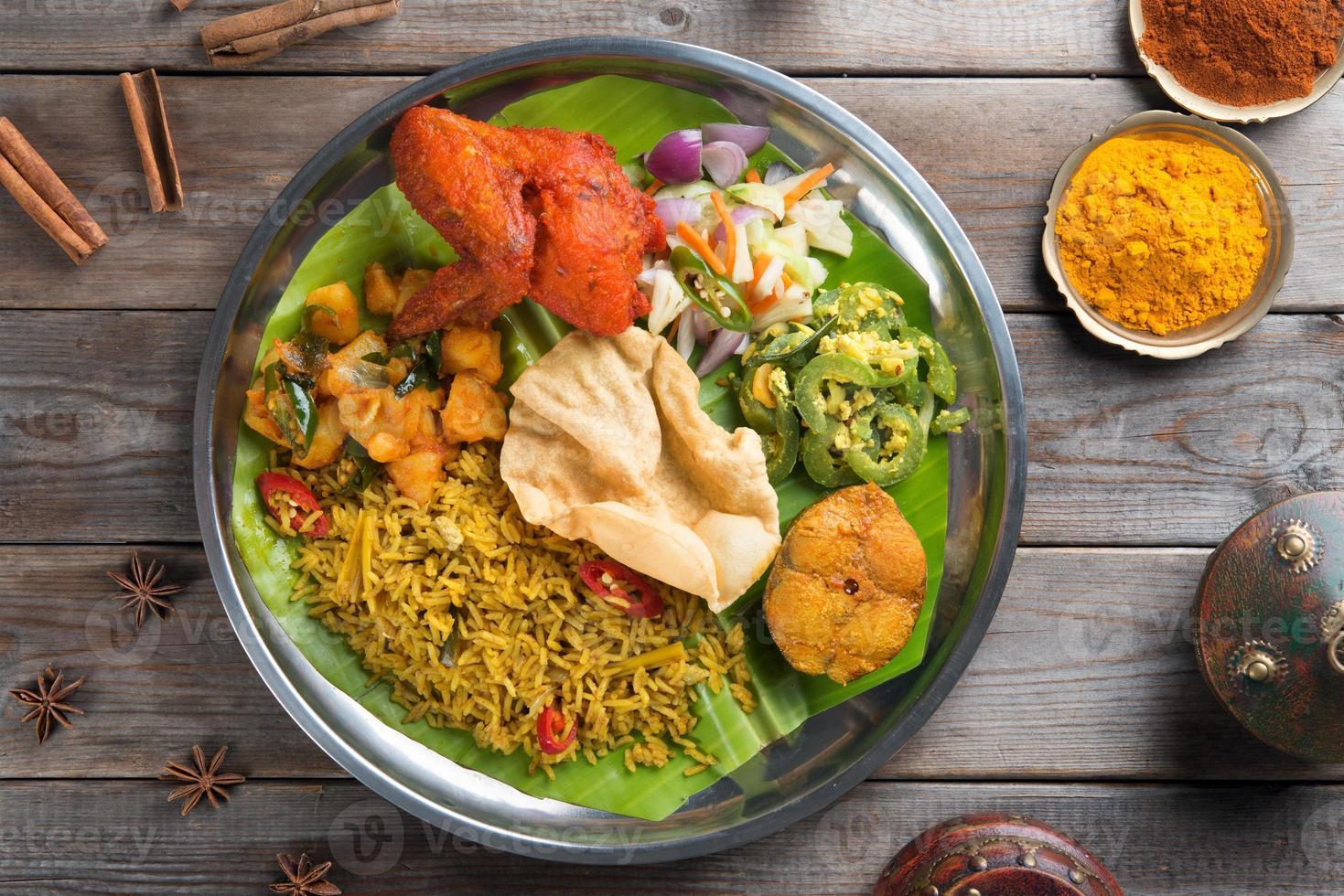 arroz biryani con ajuste foto