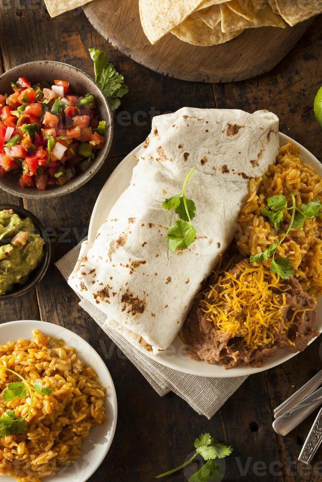 Homemade Giant Beef Burrito photo