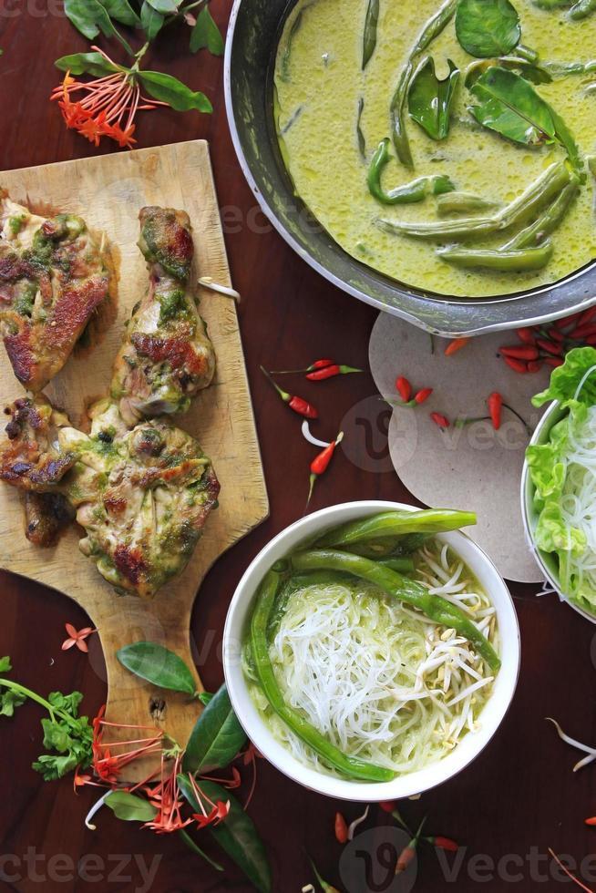 Green bean curry photo