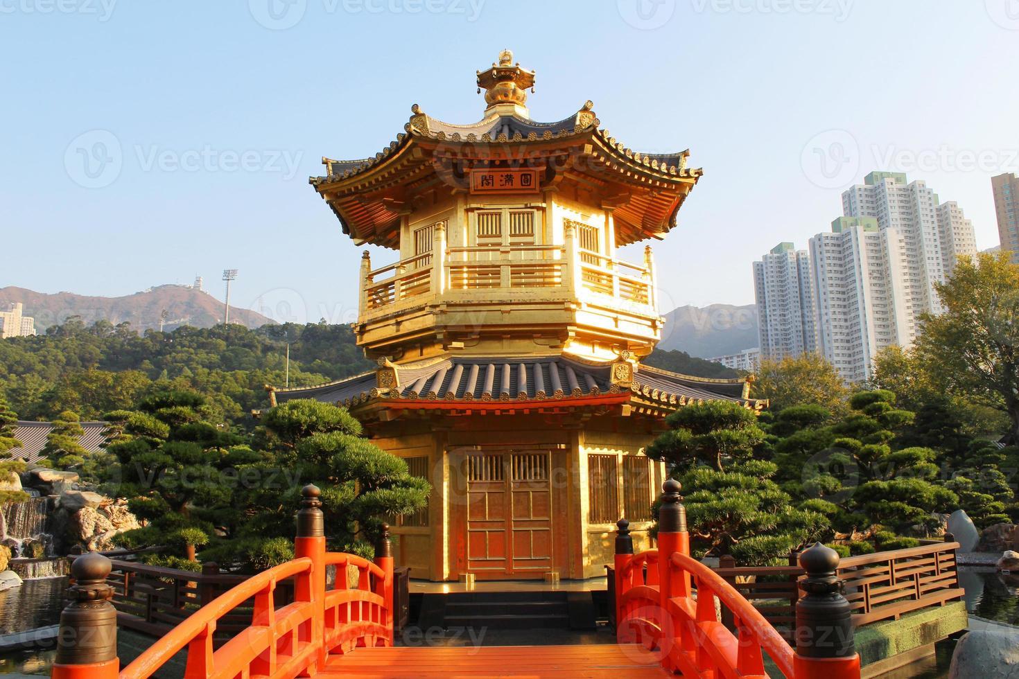 el pabellón, jardín nan lian, hong kong foto
