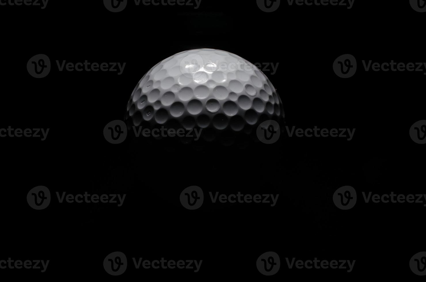 Golf ball like the moon photo