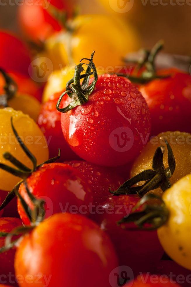 Organic Heirloom Cherry Tomatos photo