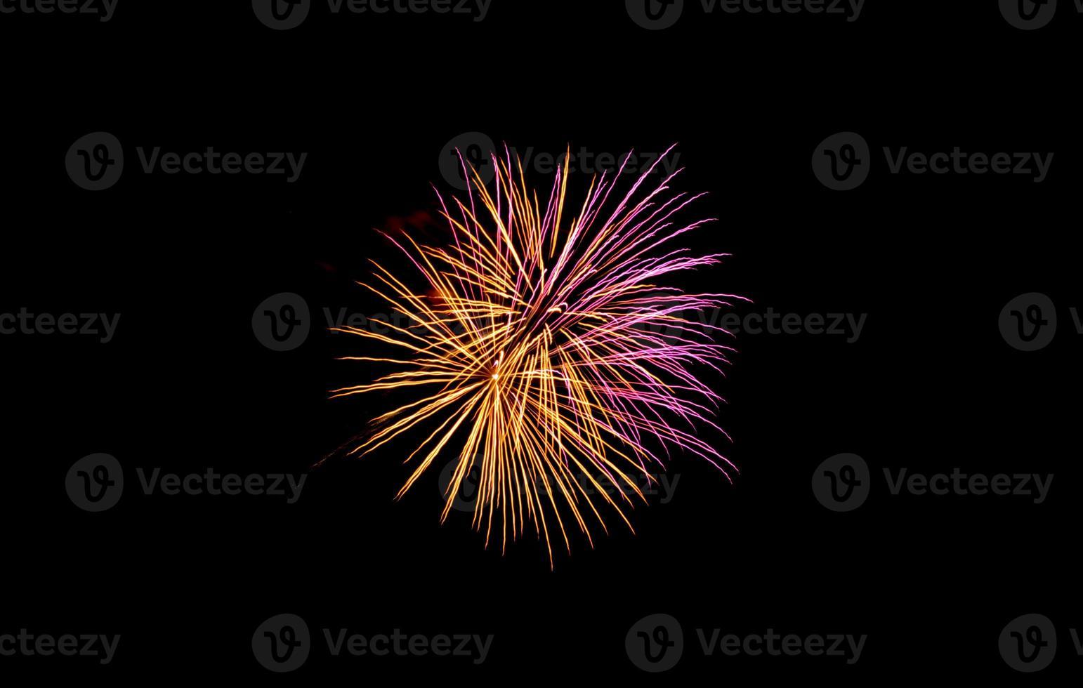 fuegos artificiales de la playa de coney island foto