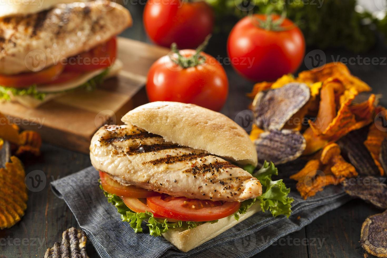 Healthy Grilled Chicken Sandwich photo