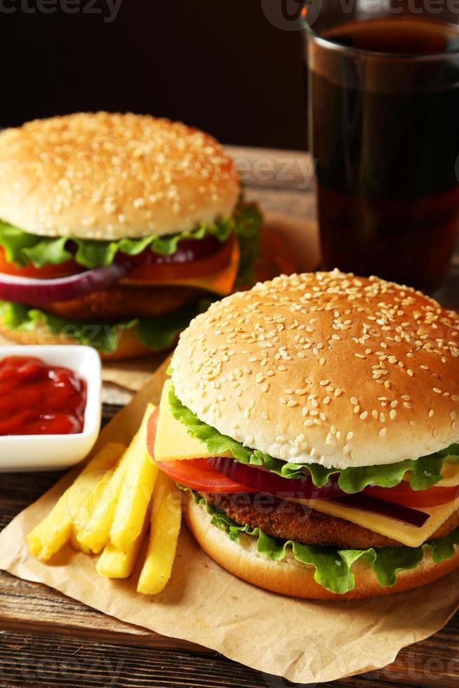 hamburguesa fresca foto