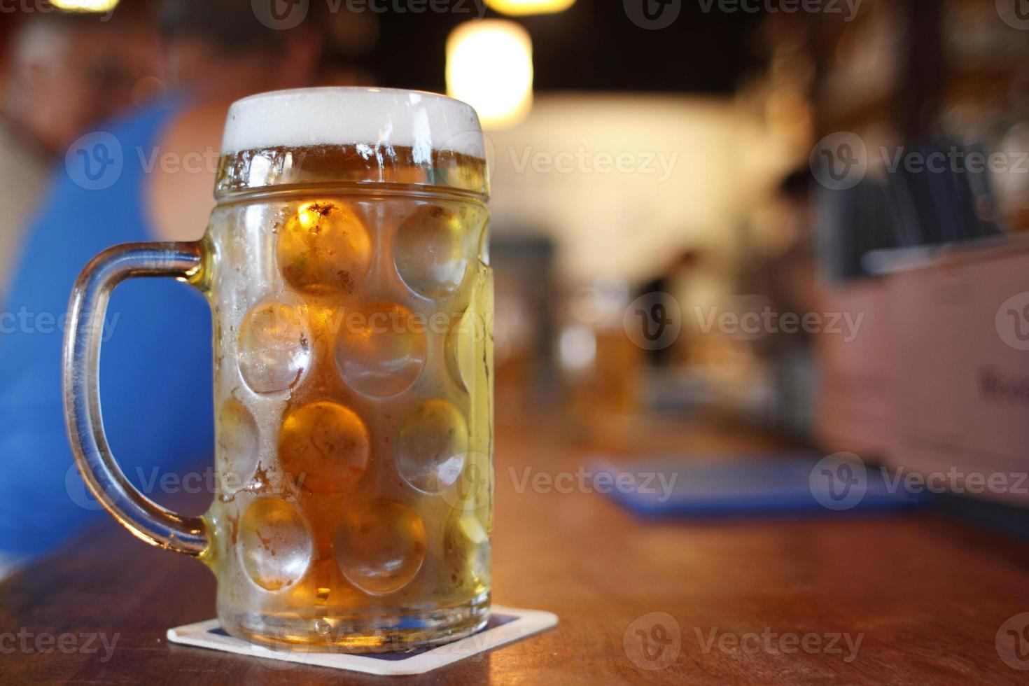 Glass of beer photo