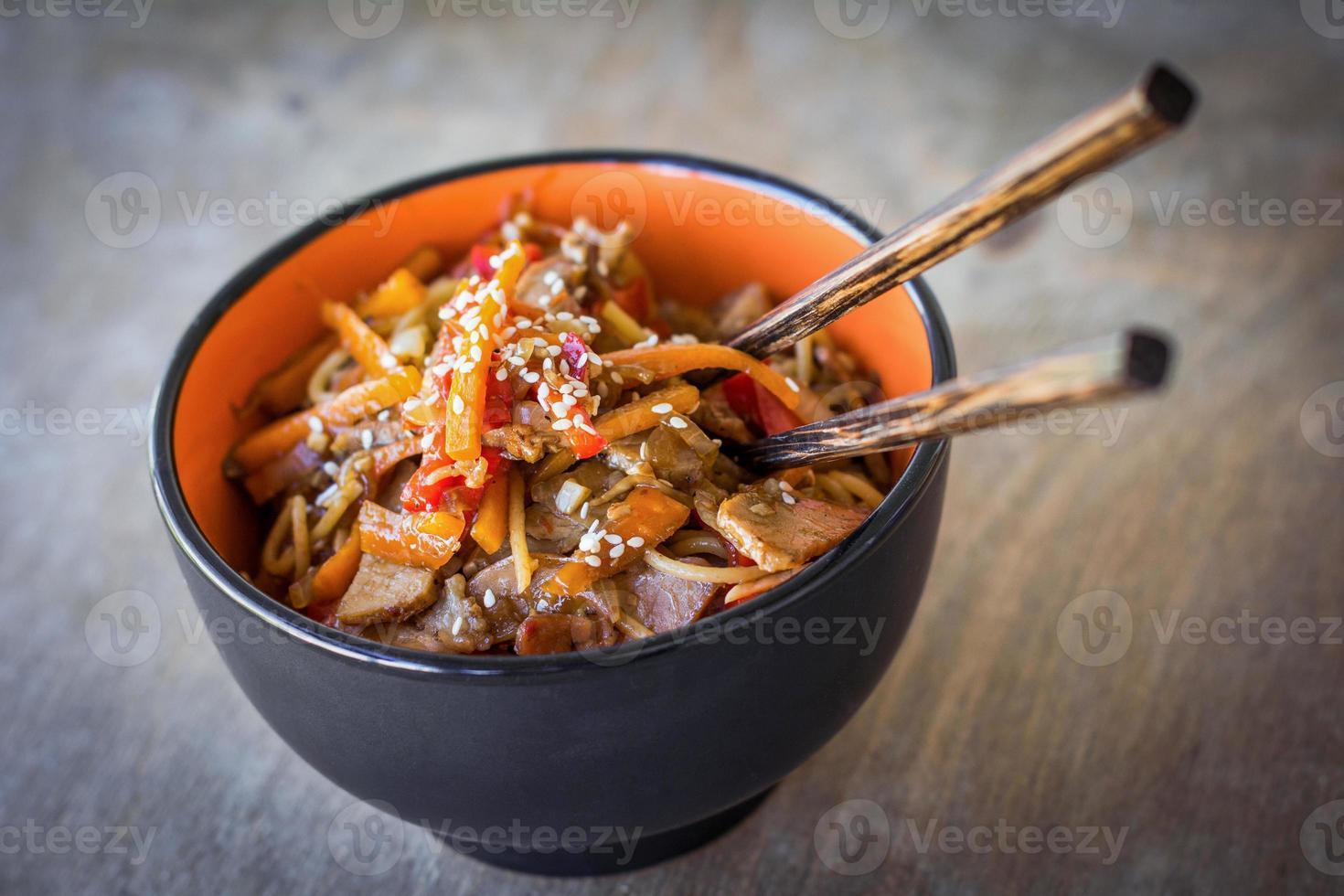 Stir fry noodles photo