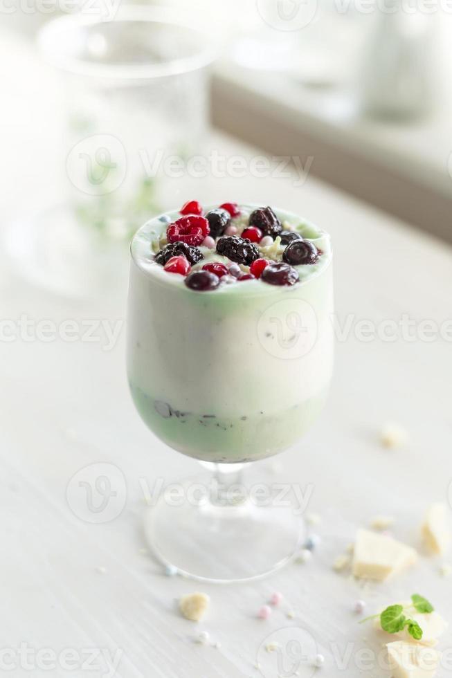 berry fruit and pistache avocado natural ingredient milkshake photo