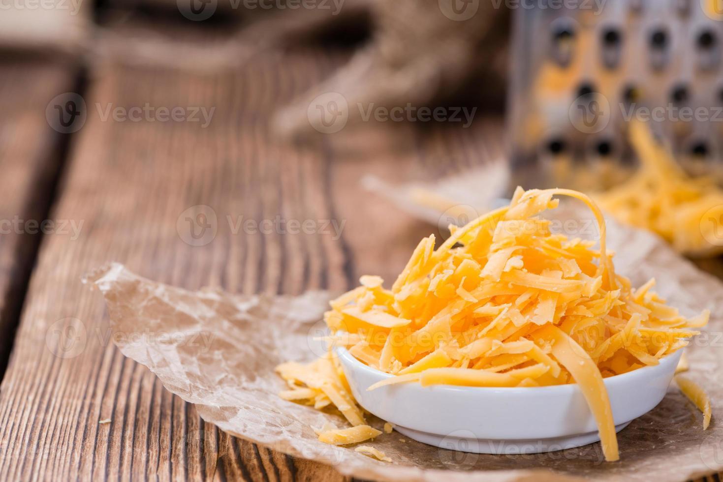 queso cheddar (rallado) foto