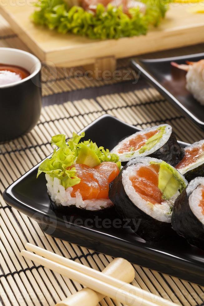 la composición del sushi foto