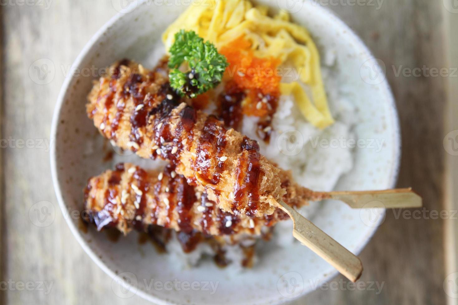 tonkatsu, chuleta de cerdo foto