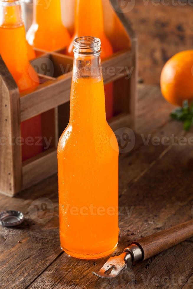 refrescante refresco de crema de naranja foto