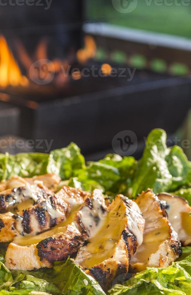 caesars salad with grilled chicken photo