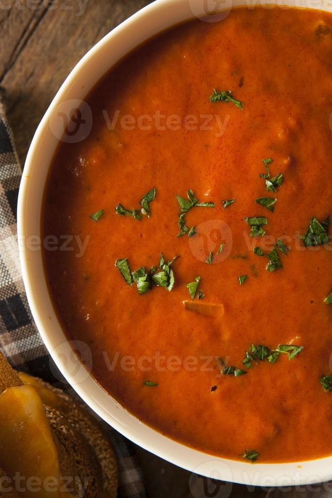 Homemade Tomato Soup with Grilled Cheese photo