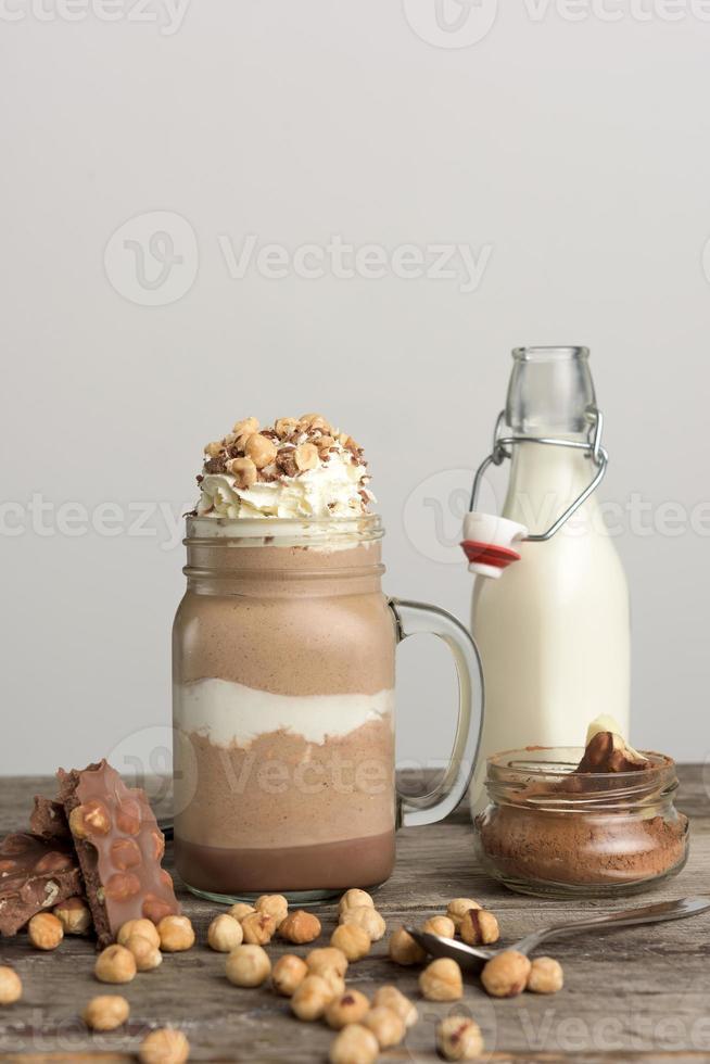 Chocolate drink with hazelnut photo