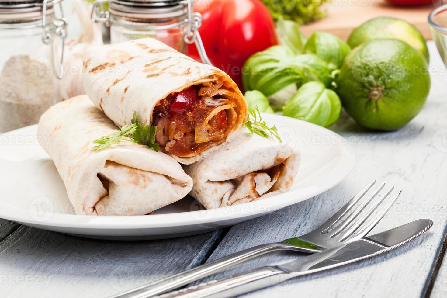 burritos mexicanos foto