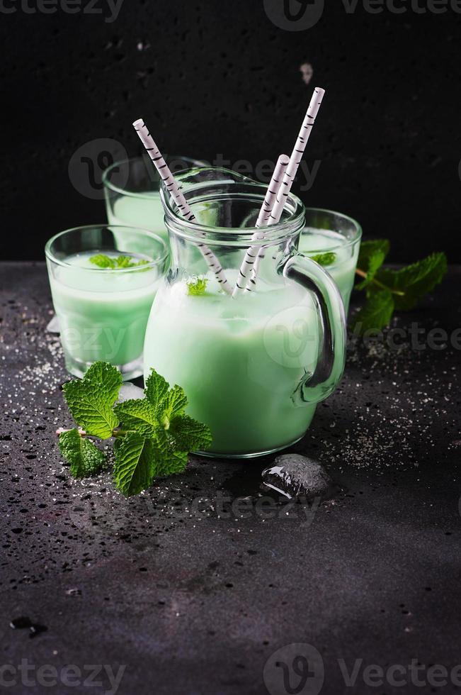 Italian traditional milk with mint photo