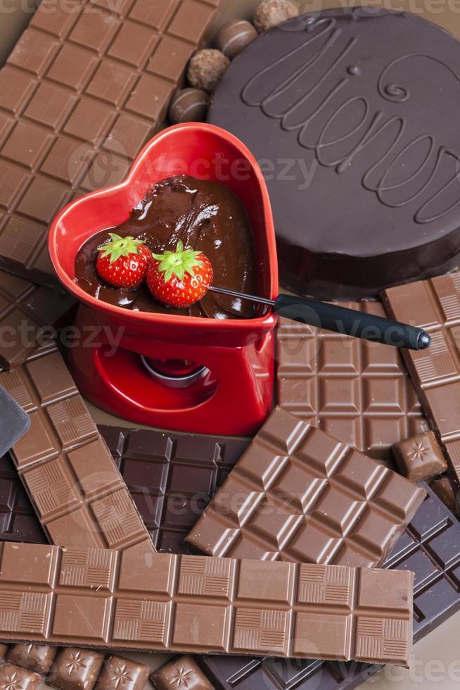 fondue de chocolate foto