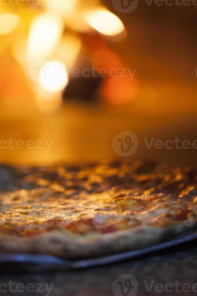 pizza in the oven photo