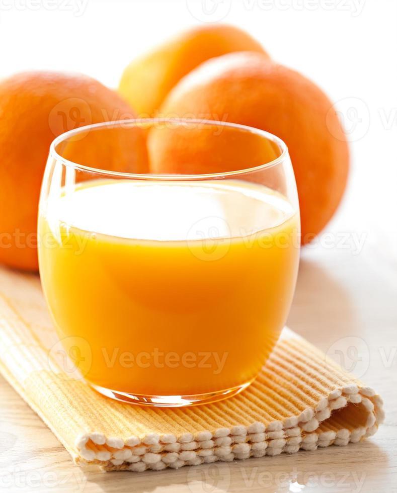 Glass of orange juice photo