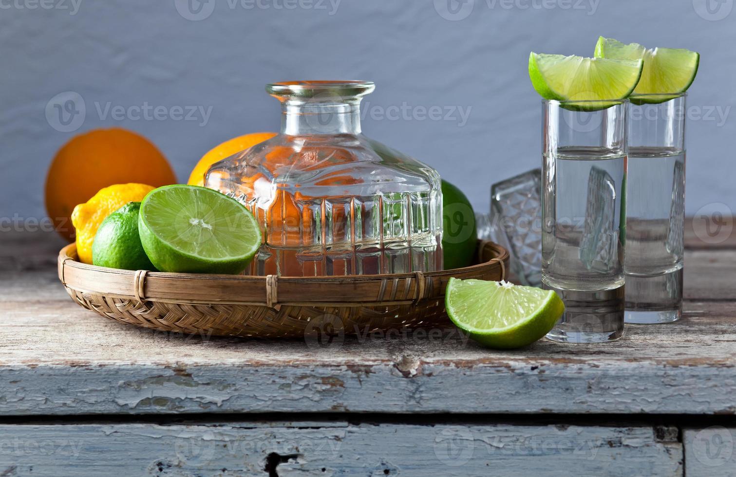 tequila y cítricos foto