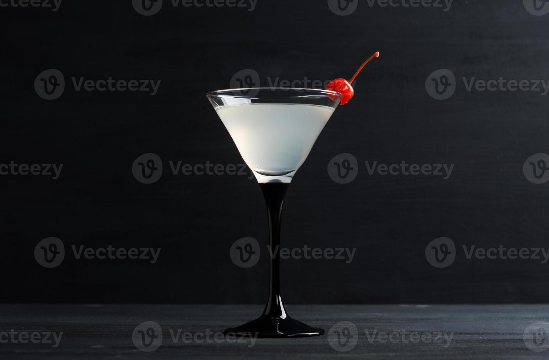 Cocktail in martini glass photo