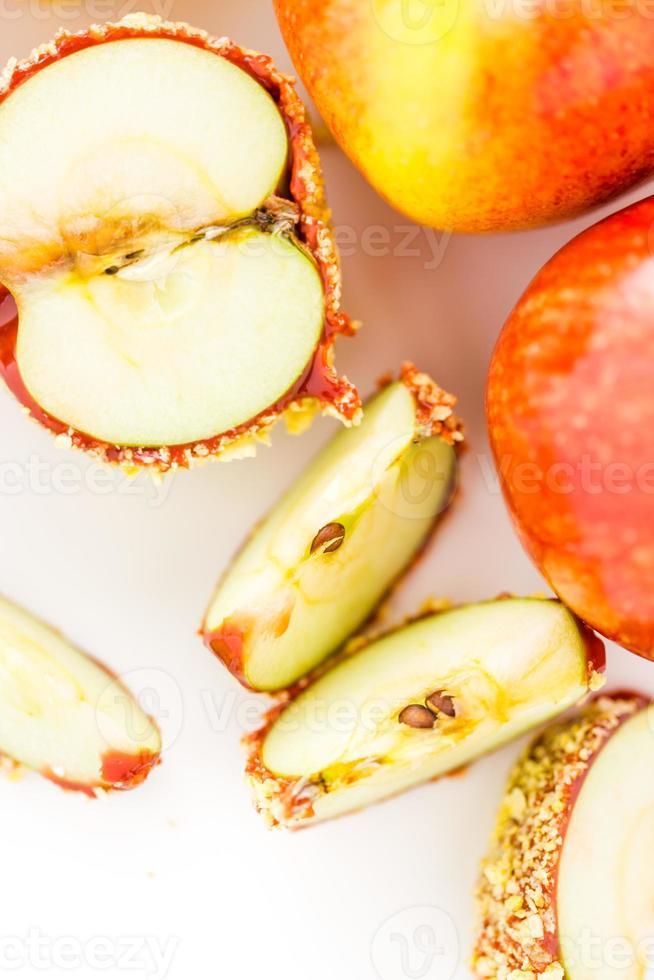 manzanas acarameladas foto