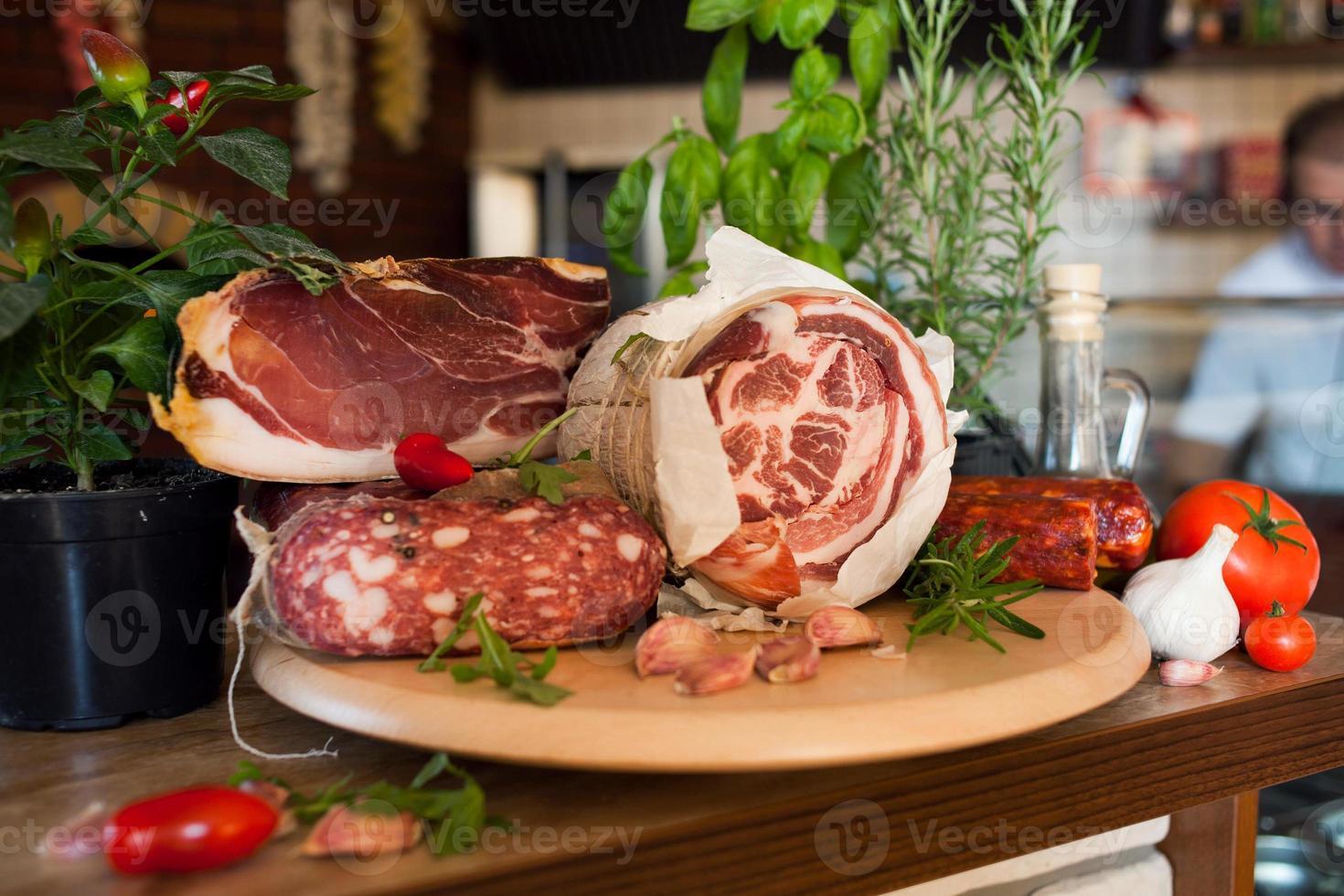 Traditional italian - Parma ham photo