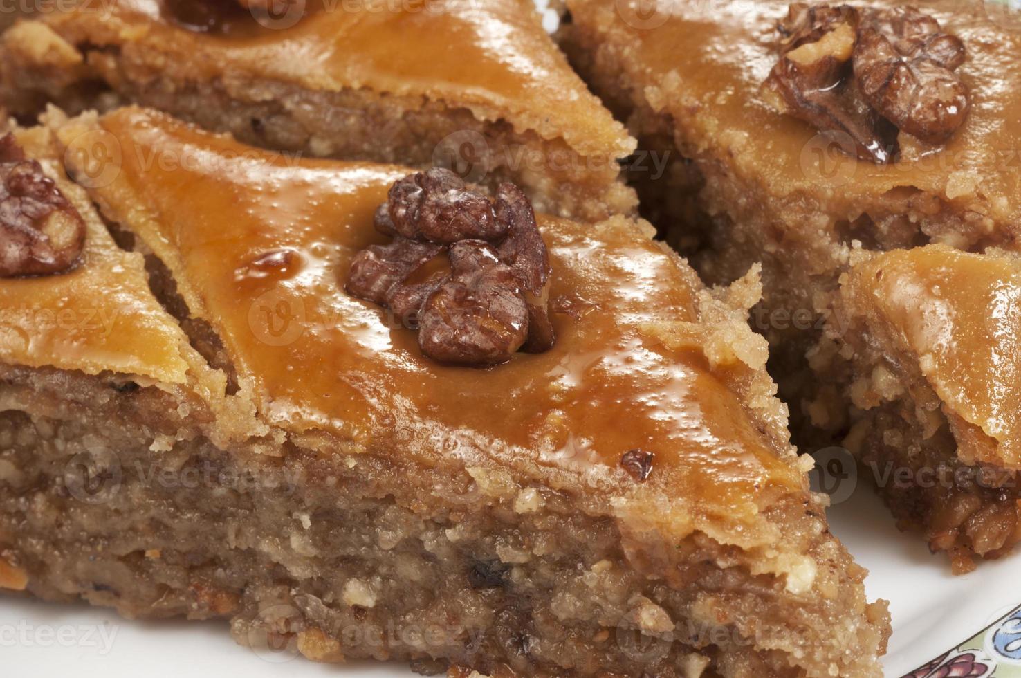 Baklava with walnut photo
